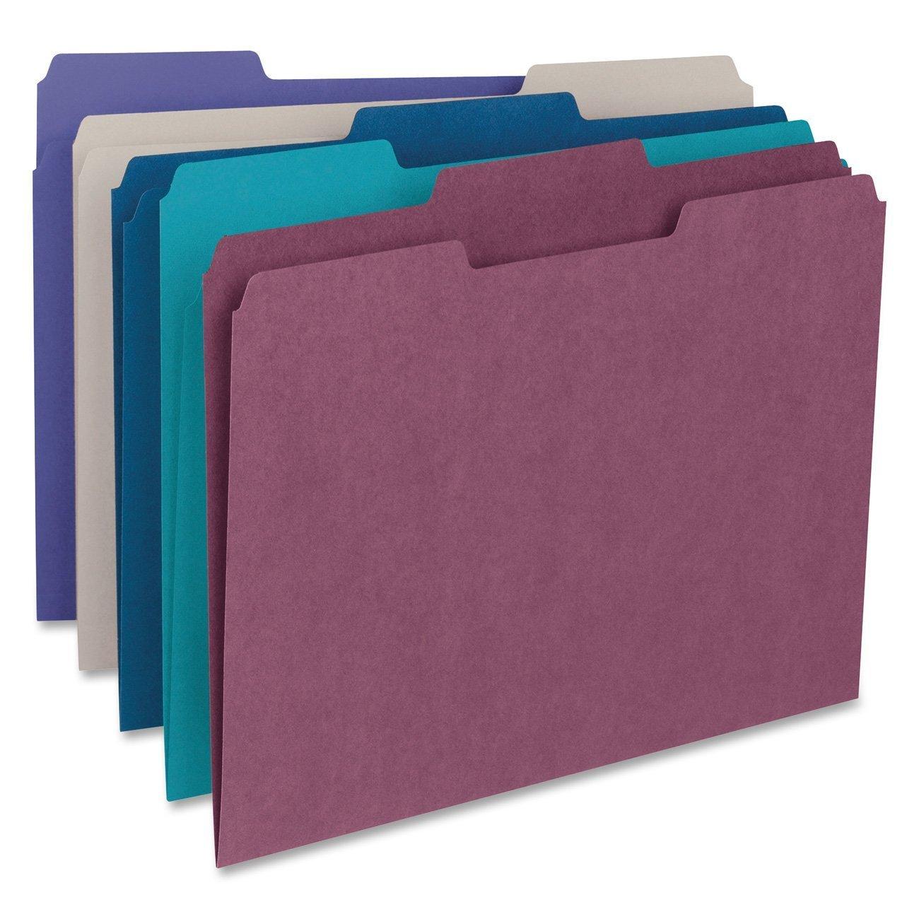 Smead 1/3-Cut File Folders, Letter Size, White, 100 Per Box (12843)