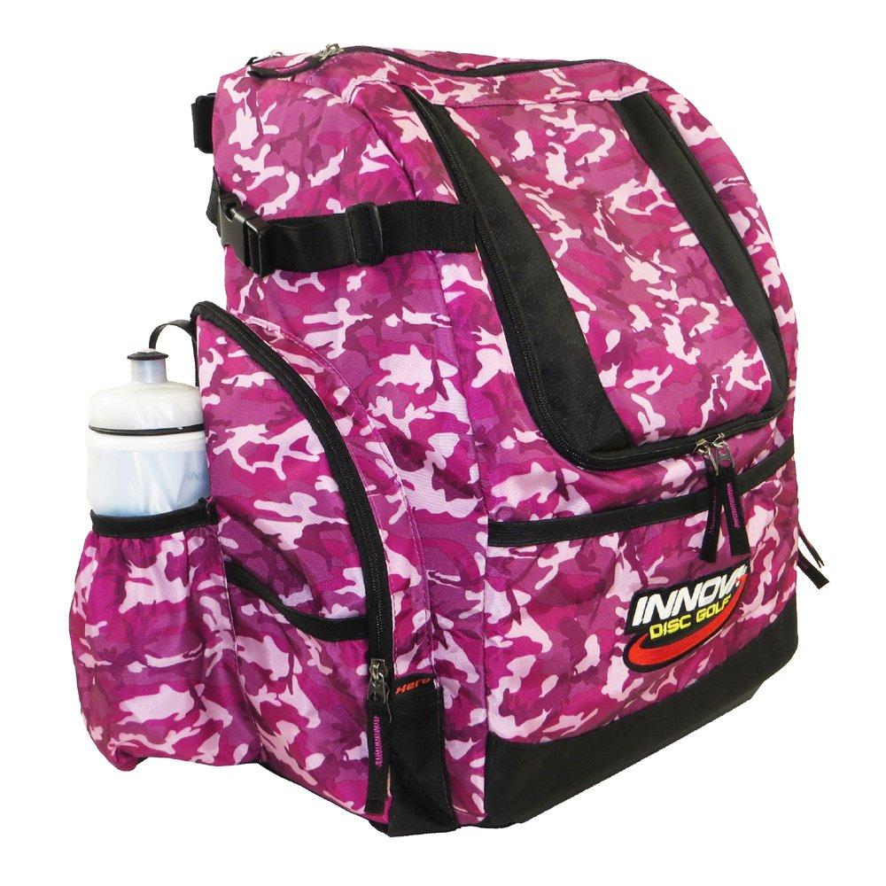 INNOVA HeroPack Backpack Disc Golf Bag - Pink Camouflage by INNOVA