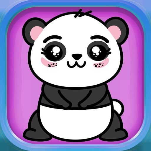 Coloring Book Cute Baby Panda