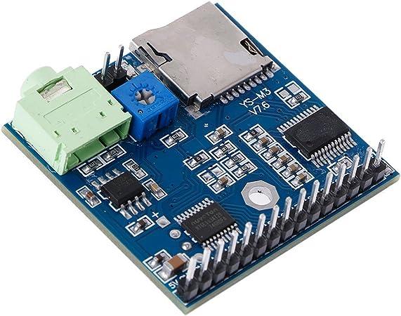 2 Ports zhiounny DC 5V MP3 Voice Player Module SD/TF Voice ...