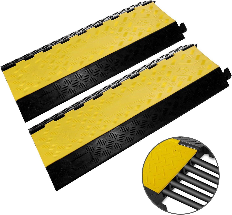 Protector des câbles Pont à câbles 2x 5 canaux Passage de câble Protection
