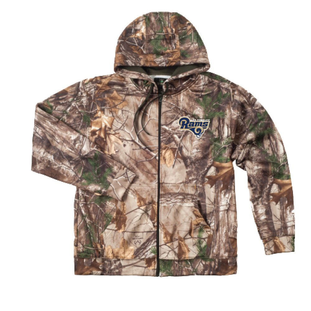 8a87b495 Dunbrooke Apparel NFL mens Camo Trophy Xtra Tech Fleece Full Zip hoodie