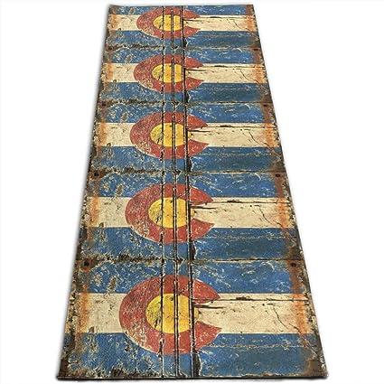 Amazon.com: Vintage Colorado Flag Printed Yoga Mat Prana ...