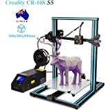 Creality CR-10S S5 3D Printer Beast Kit Large Printing Size 500x500x500mm with Dual Z Axis, 1.75mm 0.4mm MK10 Nozzle with Filament Detector, Free 200g Filament, High Precision