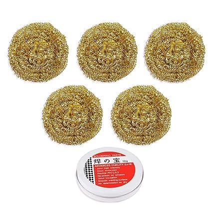 5 unidades de bolas de limpieza con punta de soldadura + Flujo de pasta de soldadura