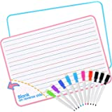 Dry Erase Board, Small White Board with 10 Markers for Students Learning Writing, Double Sided Lapboard (9 X 12 Inch), 2 Pack