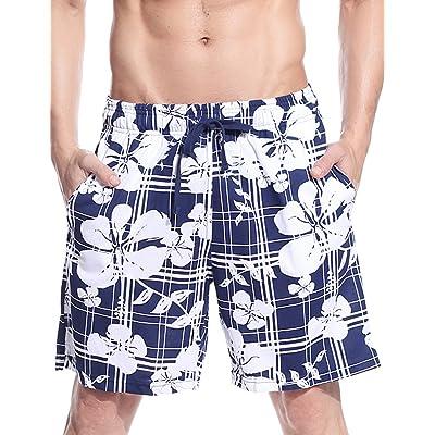 Godsen Mens Cotton Colorful Stripe Sleep Shorts at Men's Clothing store