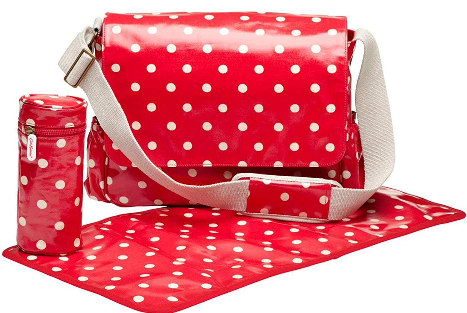 the sale of shoes hot-selling clearance find workmanship Cath Kidston New Oilcloth Poppy Red Spot Nappy Changing Bag £52.99