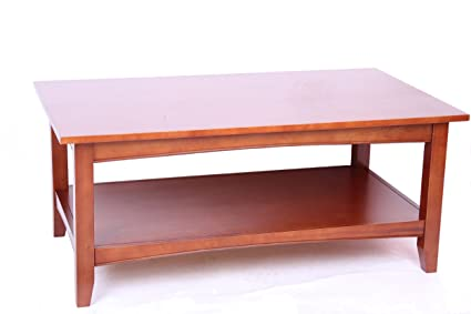 Cherry Coffee Table.Shaker Cottage Rectangle Coffee Table With Open Shelf Cherry