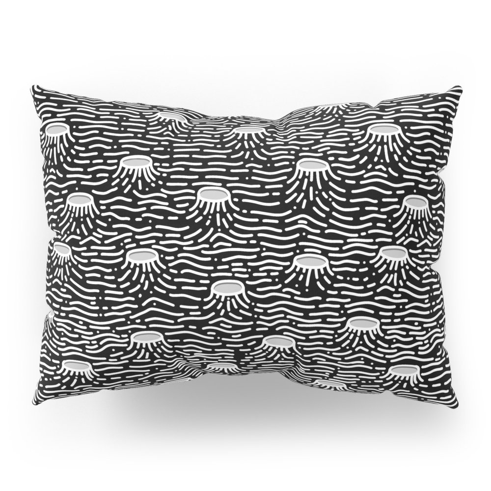 Society6 Dark Moon Surface Pillow Sham Standard (20'' x 26'') Set of 2