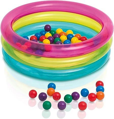 Intex 48674NP - Piscina de bolas hinchable con 50 bolas de colores ...