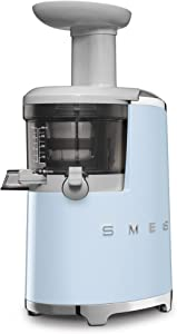 Smeg SJF01PBUS 150W 50's Retro Style Aesthetic Slow Juicer, Pastel Blue