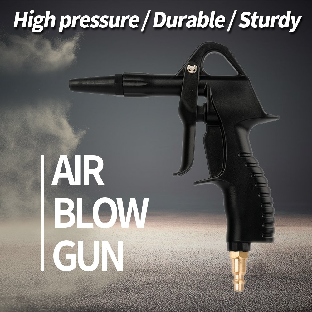 """Air Blow Gun,High Flow Air Nozzle Blower Gun for Compressor with 4.9""""Extended Nozzle, Clean Handy Tool,Industrial Air Blow Gun,Quick Connect by Sanjo (Image #6)"""