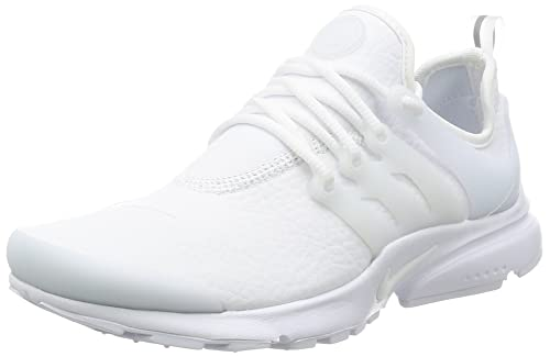 multiple colors online for sale famous brand Nike Womens W Air Presto PRM White/Grey Leather Size 8 ...