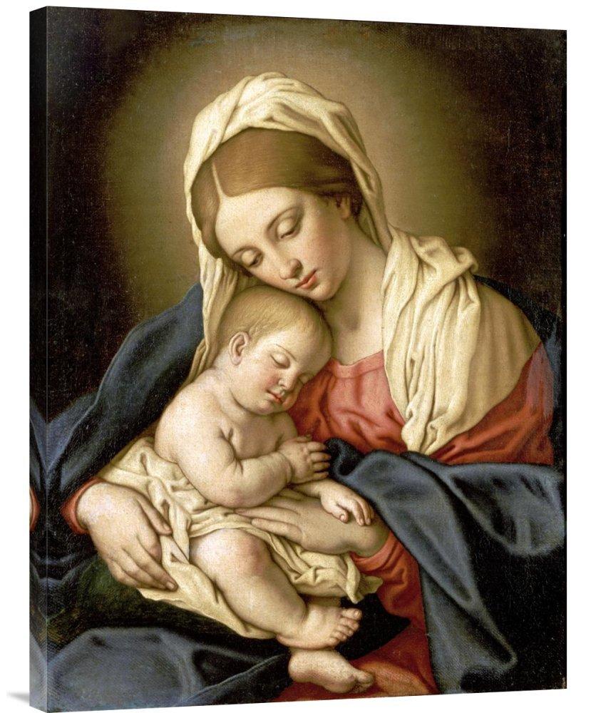 Global Gallery GCS-267231-30-142 ''Giovanni Battista Salvi The Madonna & Child'' Gallery Wrap Giclee on Canvas Wall Art Print