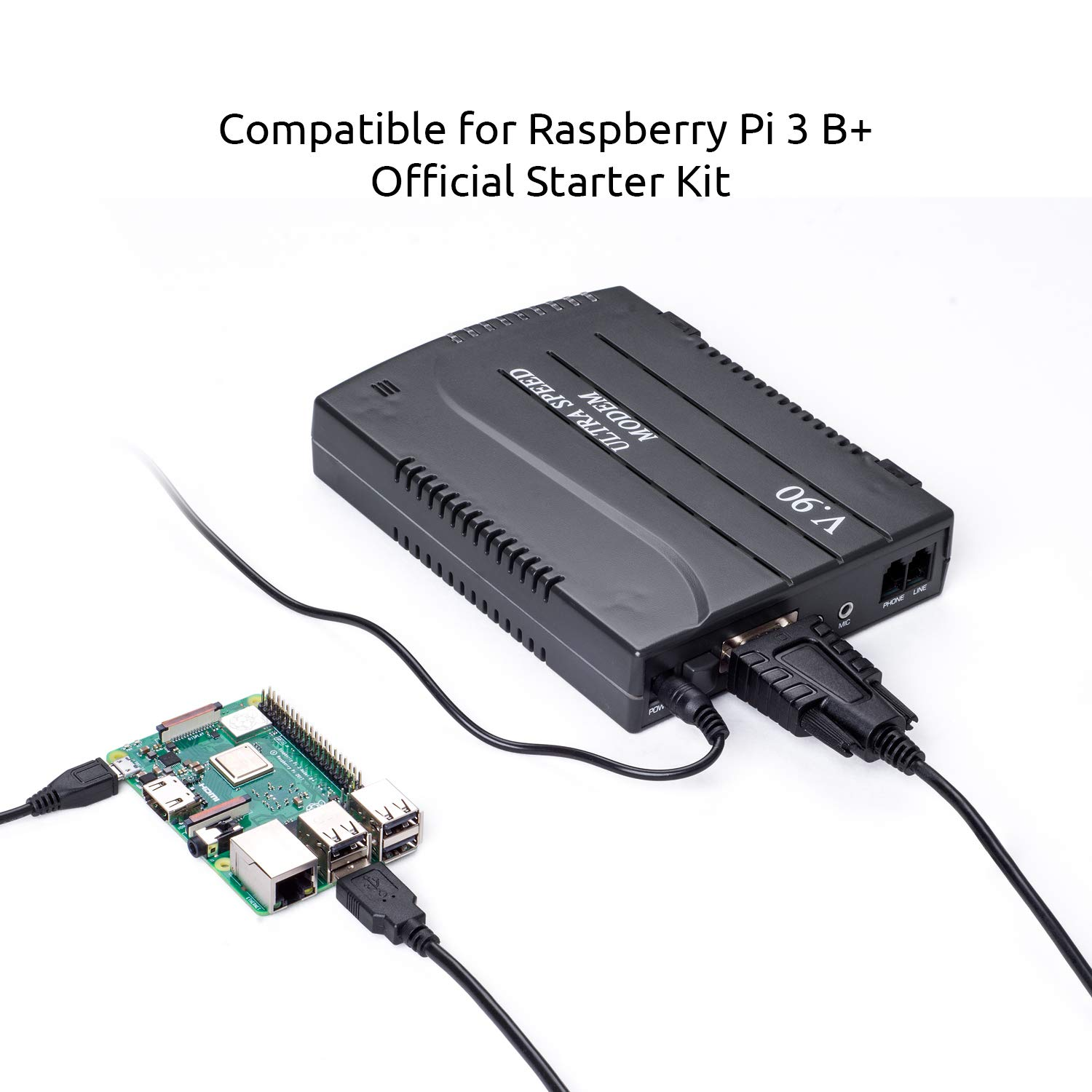 Industry RS232 Adapter CNC Router Machine Raspberry Pi 3 B+ Official Starter Kit VTOP USB to RS232 Serial DB9 Adapter for GSM GPRS Modem 9 Pin COM Port Converter Cable