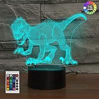 3D Lámpara óptico Illusions Luz Nocturna, KidsPark Dinosaurio