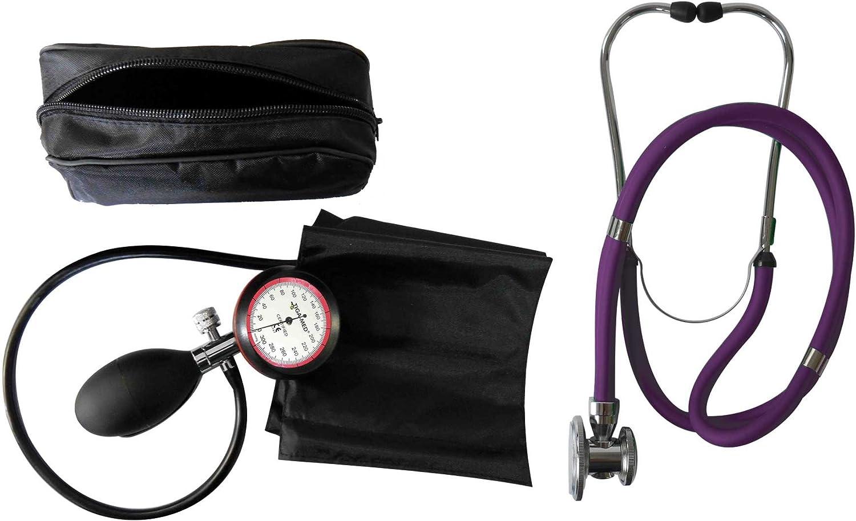 Tiga-Med–Tensiómetro de 1tubo estetoscopio/estetoscopio púrpura 1pieza (= 1set–2Artículo) Calidad clínicos