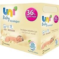 """Uni Baby Yenidoğan Islak Pamuk Mendil 36""""lı Paket 1440 Yaprak"""