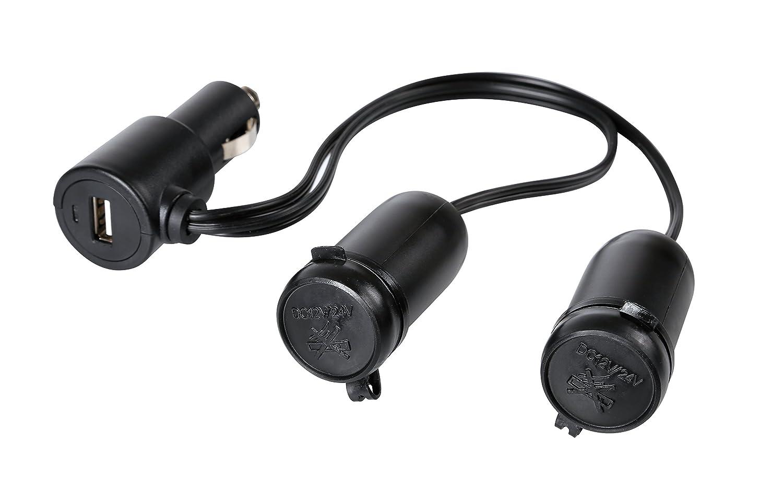 Lampa 38966 Spinotto USB con Doppia Presa Tipo Accendisigari 12/24V