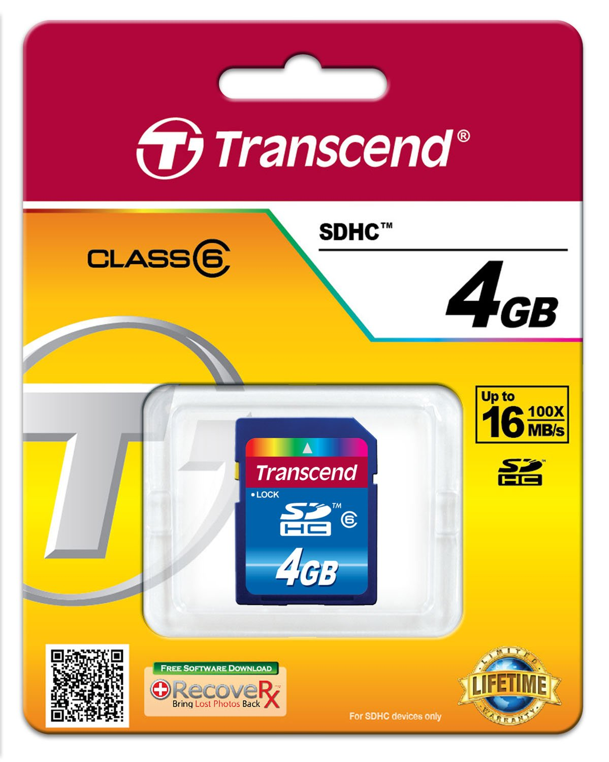 Transcend 4 GB Class 6 SDHC Flash Memory Card TS4GSDHC6 by Transcend