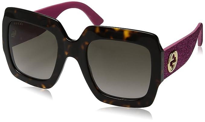 Gucci GG0102S 003, Gafas de Sol para Mujer, Marrón (Avana/Brown)
