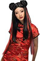 Rubie's Costume Asian Lady Wig with Red Streaks