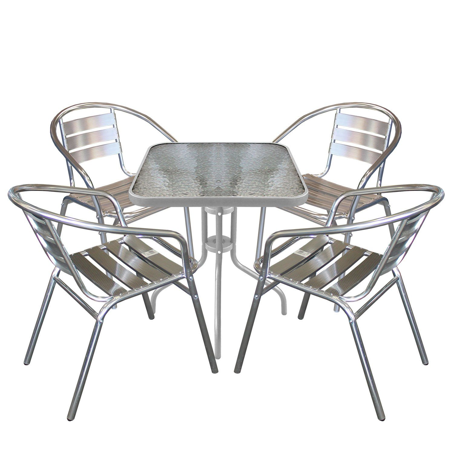 5tlg bistrogarnitur bistro set balkonm bel bistrotisch. Black Bedroom Furniture Sets. Home Design Ideas