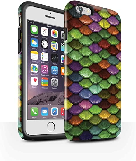 Stuff4® Phone Case/Cover/Skin/ip-3dtbg/Watercolour Mermaid Scales ...