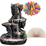 SPACEKEEPER Waterfall Backflow Incense Burner Mountain Tower Incense Holders with 120 Backflow Incense Cones + 30…