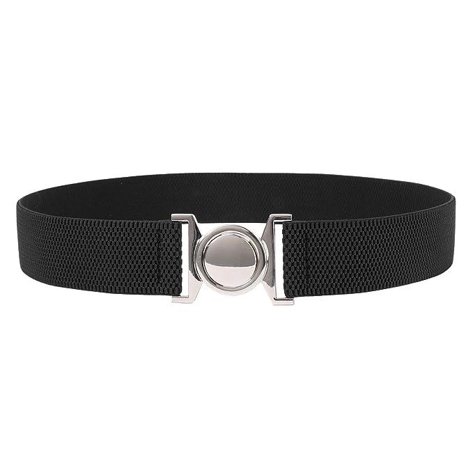 Signora Metal Stretch Cinch Belt Buckle incastro rotonda Nero Taglia L  CL010486-1  Amazon.it  Abbigliamento 3cc883e027c