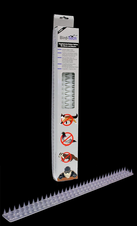 3 Metros en Piezas de 50cm Pinchos Anti-aves y anti-gatos Polipropileno anti UV (transparente): Amazon.es: Bricolaje y herramientas