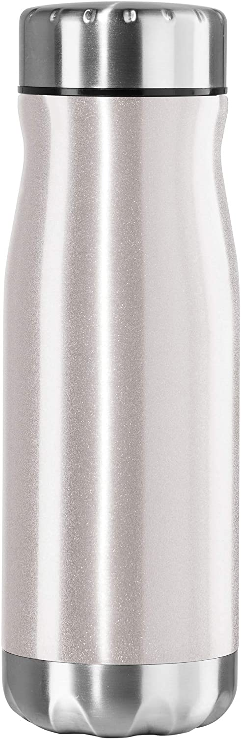 Oggi CHUG Vacuum Insulated Stainless Steel Bottle with Screw Top, 17-Ounce, White