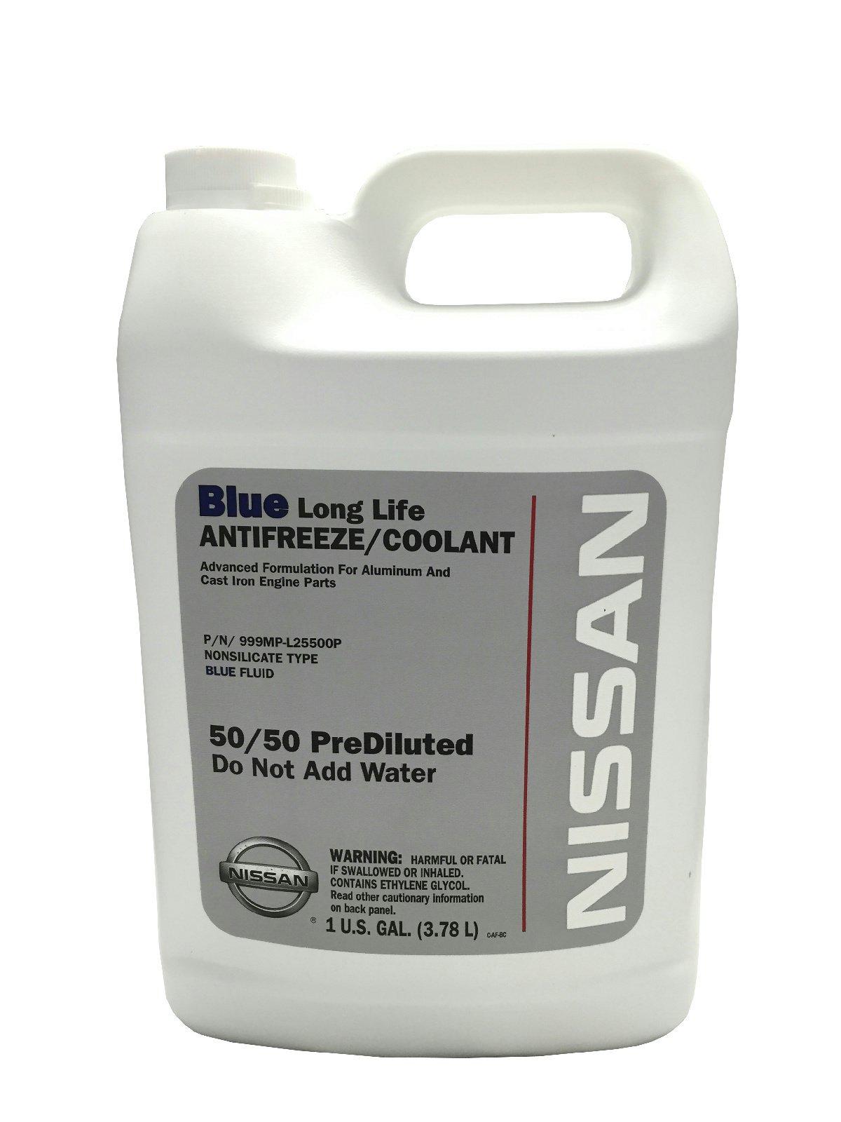 Nissan Genuine Fluid 999MP-L25500P Blue Long Life Antifreeze/Coolant - 1 Gallon