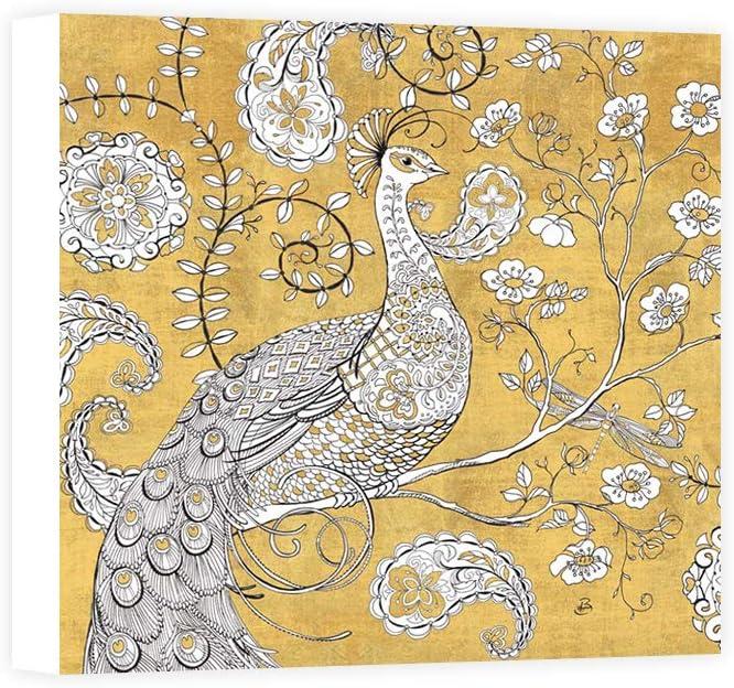 Impresión sobre Lienzo Wall Art Brissonnet Daphne Color My World Ornate Peacock I Gold: Amazon.es: Hogar