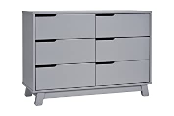 Babyletto Hudson  Drawer Assembled Double Dresser Grey