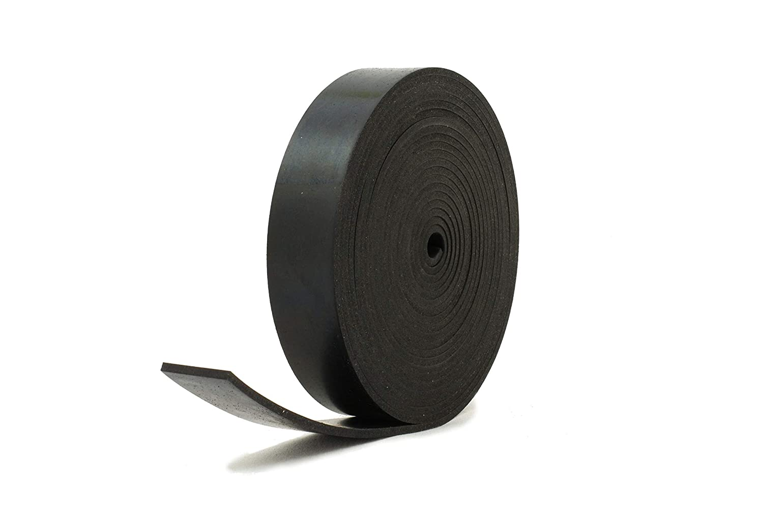 Solid Neoprene Black Rubber Strip 1 Wide x 5//32 Thick x 16 feet Long