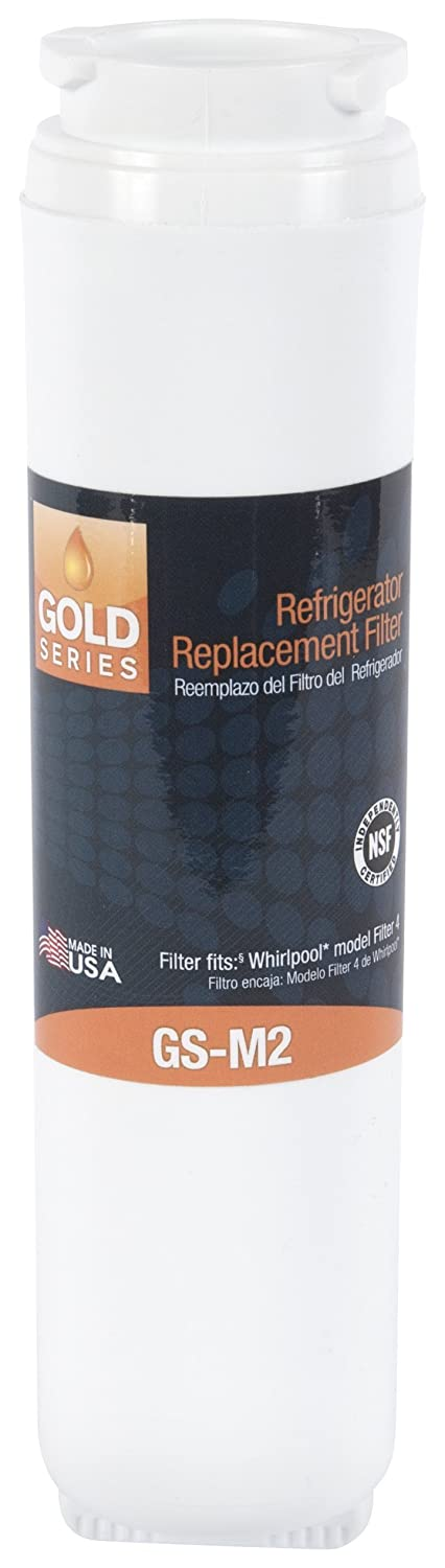 Gold Series GS-M2 Refrigerator Water Replacement Filter, Fits Maytag UKF8001, 469005, 4396395 Whirlpool Filter 4