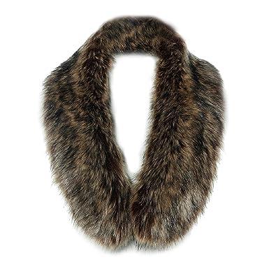 femmes foulards - TOOGOO(R) hiver renard faux col de fourrure echarpe chale  enveloppement s 7fdae14e71c