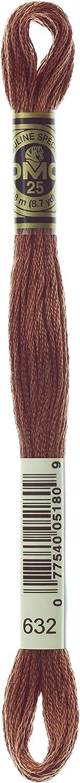 8.7-Yard Ultra Very Dark Desert Sand DMC 117-632 Six Stranded Cotton Embroidery Floss