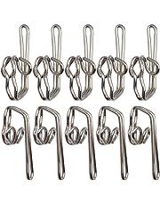 Ucatcher 100 Pack Metal Curtain Header Tape Drapery Hooks