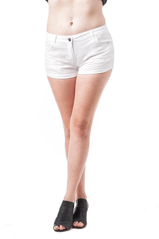TALLA M. Pantalones Cortos de Tiro bajo con puños sólidos