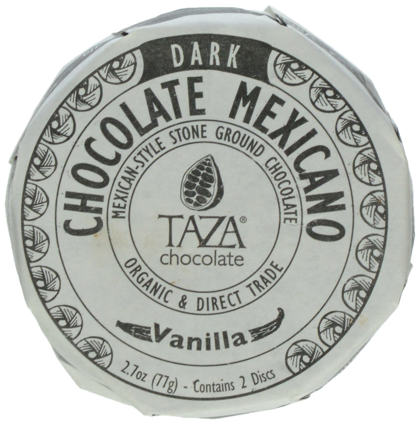 Amazon.com : Taza Chocolate Mexicano Chocolate Disc, Vanilla, 2.7 ...