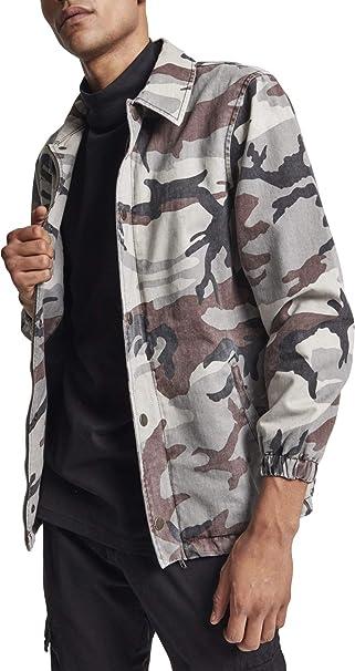 Urban Classics Camo Cotton Coach Jacket Chaqueta para Hombre ...