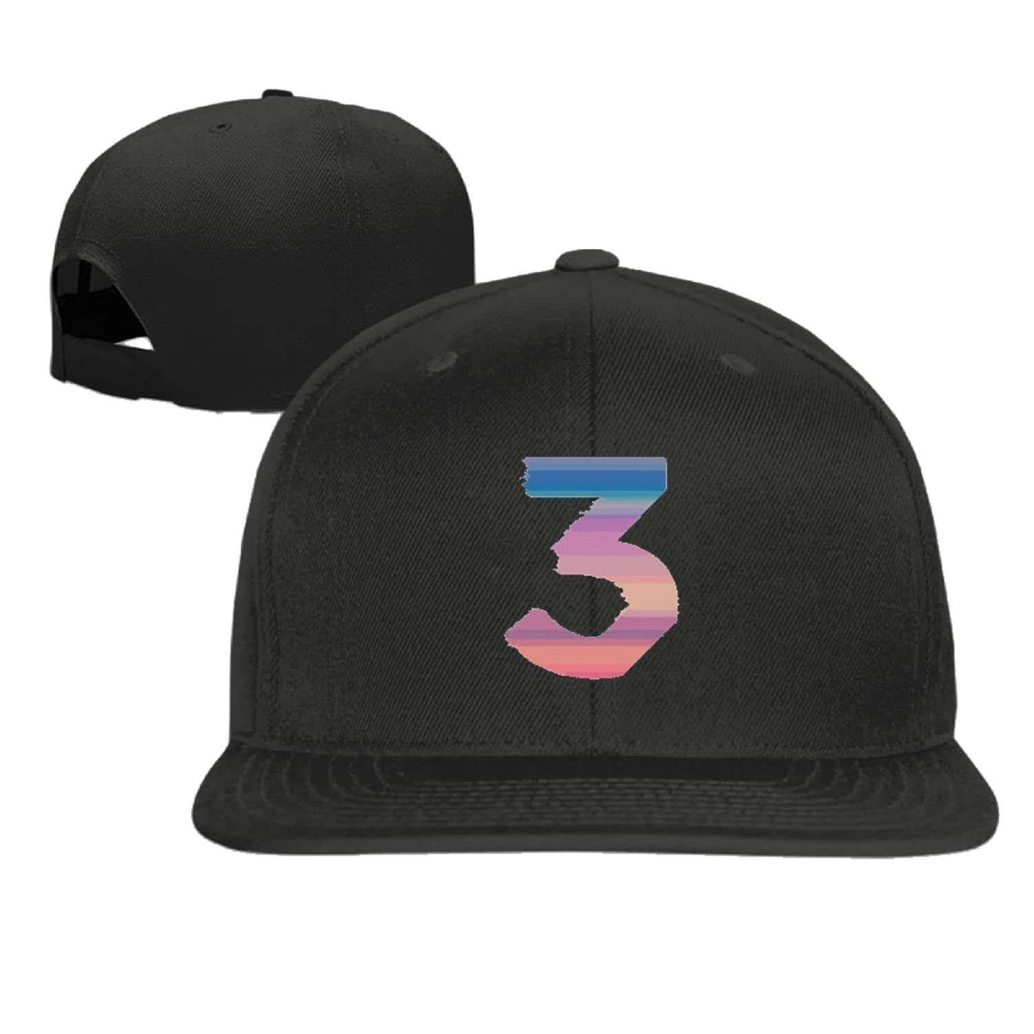 Coloring book chance the rapper hat - Baseball Cap Hip Hop Hat Chance The Rapper Number 3 Cap Black 5 Colors Amazon Ca Clothing Accessories
