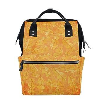 JSTEL - Bolsas de roble para ordenador portátil, para estudiantes, viajes, otoño, escuela, mochila: Amazon.es: Electrónica