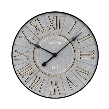 YVSoo 50cm Reloj de Pared Silencioso,Reloj de Pared Vintage Reloj de Cuarzo Madera para Cocina, Salon, Cuarto Decoración (B): Amazon.es: Hogar