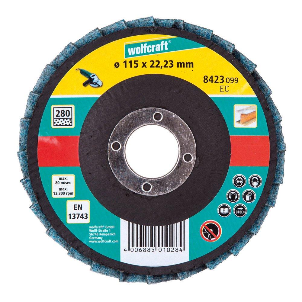 Wolfcraft 8422099 Disque lamelle fibre pour Meuleuse G80 /ø 115 vrac