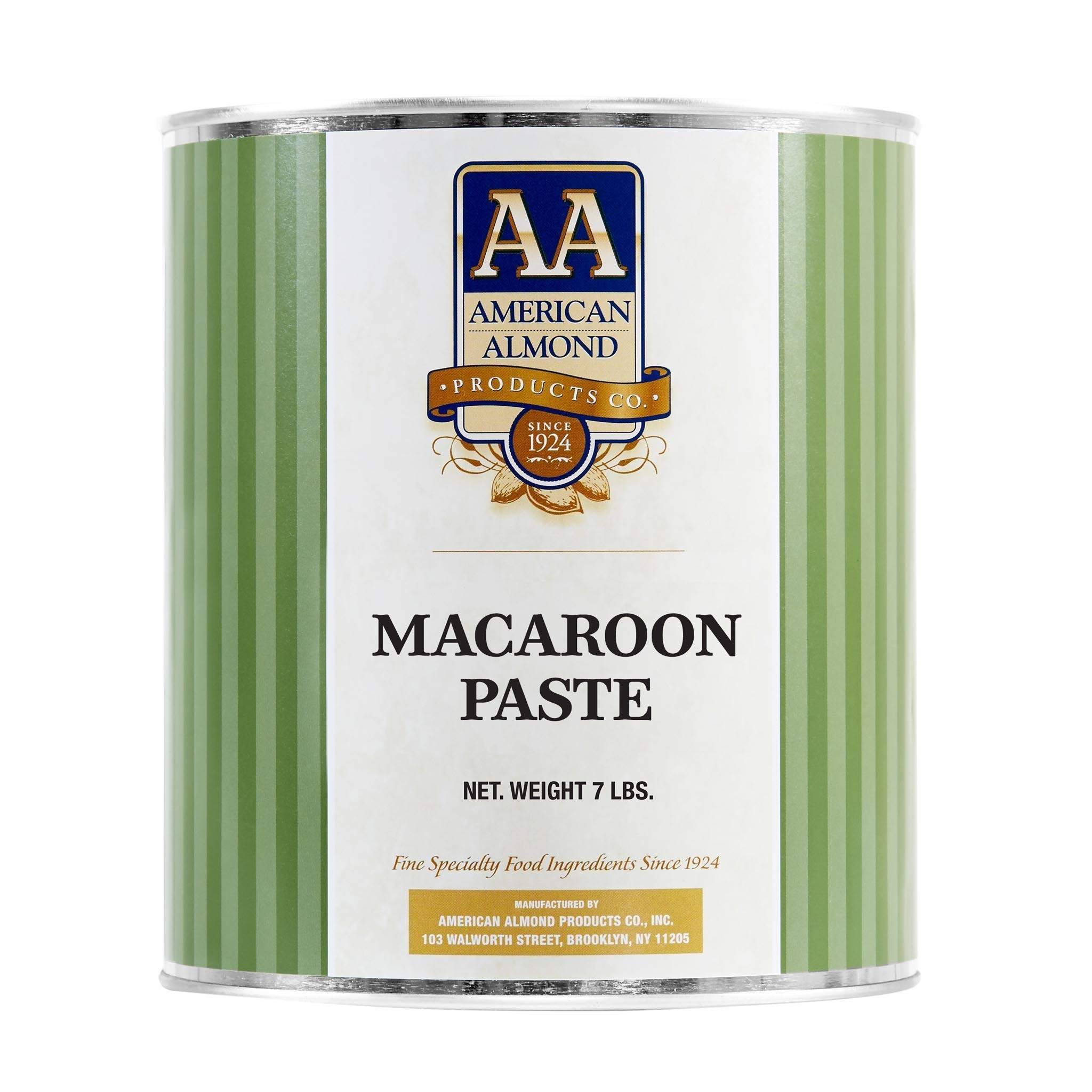 American Almond Almond Paste - Case of Six 7 lb Cans