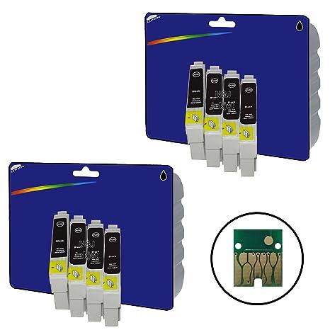 8 cartuchos de tinta negra XL no originales para Epson Stylus D78 ...